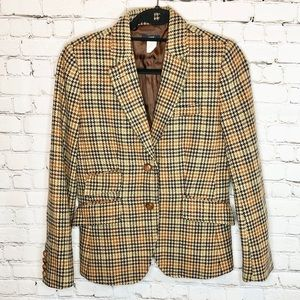 J. Crew Lambs Wool And Suede Oxford Blazer